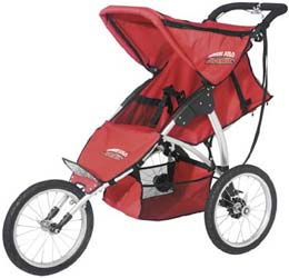 Avenir's Discovery Solo Stroller is one tough kiddie ride!