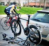Hitch-mount rack are low and easy to put your bikes on!