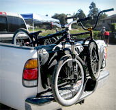 It's easy to load up bikes with a padded tailgate cover!