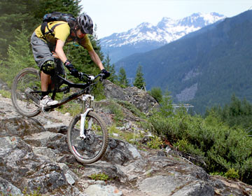 Full suspension maximizes mountain biking fun!
