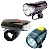 Bicycle headlights are easy to use and bright to light your way!