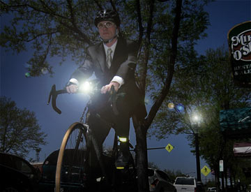 Bicycle lights keep you safe by letting you see and letting drivers see you!
