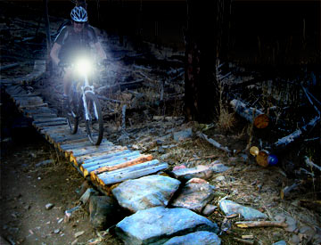 See your favorite trail in a whole new light at night!