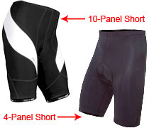 4 Panel and 10 Panel shorts