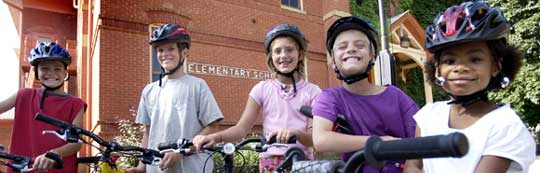 Cycling to school is the fun way to go!
