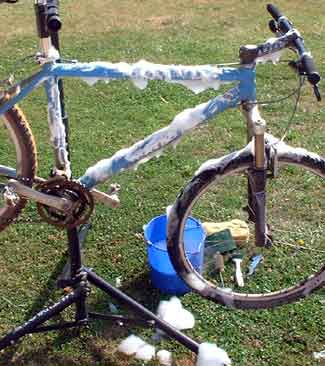 Plenty of suds a clean bike make!