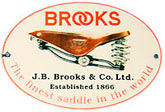 Brooks bicycle saddles are handcrafted in England!