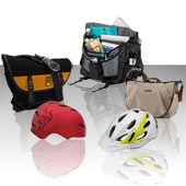 Helmets are a must, and bags make it easy to take all your gear along!
