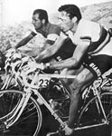 Gino Bartali and Fausto Coppi (left/right), were at the center of one of cycling's most famous rivalries!