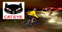 Cat Eye bicycle lights turn night into day!