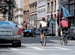 Half of all trips in urbanized areas are three miles or less. Bicycles make these trips healthy and less stressful.