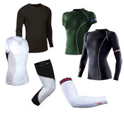 Bicycling base layers come in a variety of form-fitting styles!