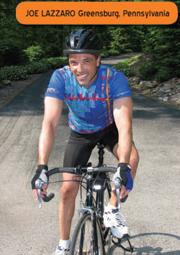 Bicycling helps Joe Lazzaro maintain blood sugar levels!