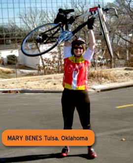 Bicycling helps Mary Benes handle multiple sclerosis!