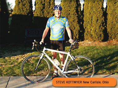 Bicycling helps Steve Kottmyer keep a positive attitude!