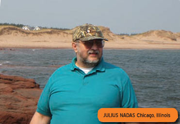 Bicycling helped Julius Nadas decrease his blood pressure within a couple months!