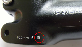 Check the date code to see if your EA-30 stem is recalled.
