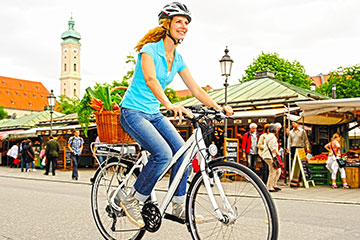 Electric bicycles combine the convenience, fun and fitness of cycling with the ease of a powerful electric motor!
