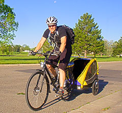 Electric bikes make it easy to pull trailers!