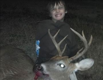 Peyton Kelly's first whitetail deer.