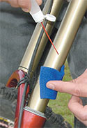 Keep your suspension stanchions lubricated.