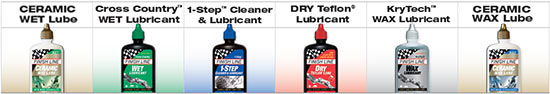 We have a wide selection of Finish Line bike-care products to help you maintain your bicycles!