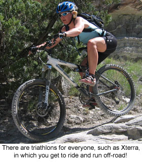 If you're into mountain biking you'll be a natural in Xterra triathlon!