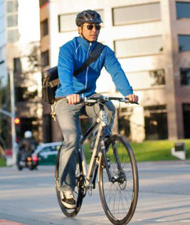 A Giant Bicycle makes commuting easier.