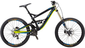 Click to enlarge the GT Fury Team downhill bike.