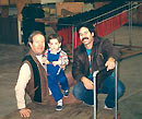 Hollywood Racks founder Henry Nusbaum with his son and grandson around 1988.