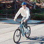 Riding an IZIP hybrid electric bicycle is tons of fun and earth-friendly!