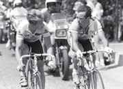 Greg LeMond (left) and Bernard Hinault were both teammates and bitter rivals!