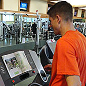 Reading a magazine can make a cardio workout go by quickly!