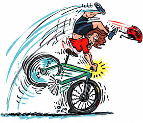 Learn how to use your front brake so this never happens!
