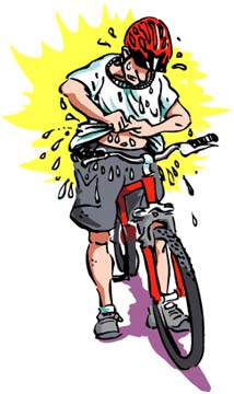 T-shirts get soaked with sweat fast. Cycling jerseys stay dry and comfortable!
