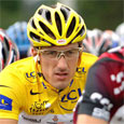 Fabian Cancellara in his Oakley Radars and the Tour's Yellow Jersey!