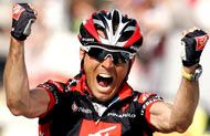 Valverde celebrates in his Oakley Radars!