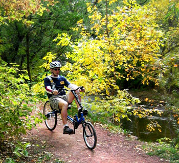 Enjoy the world around you on a recumbent bicycle!