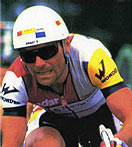 Bernard Hinault wearing his Rudys in 1986.