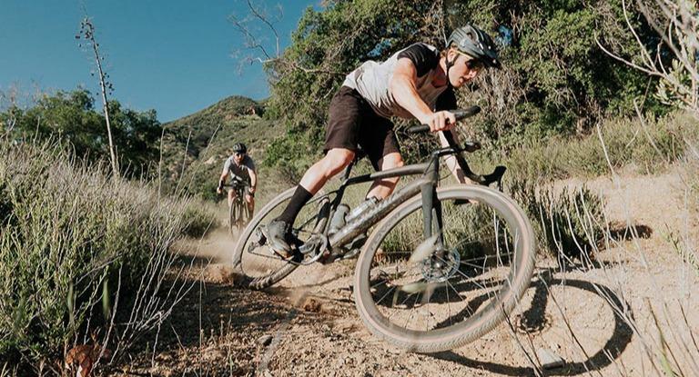 Cyclist on a gravel bike