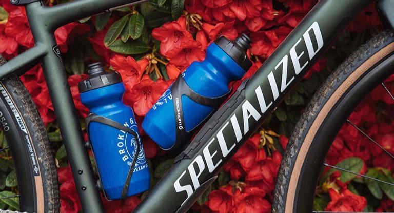 Bike with water bottles on it