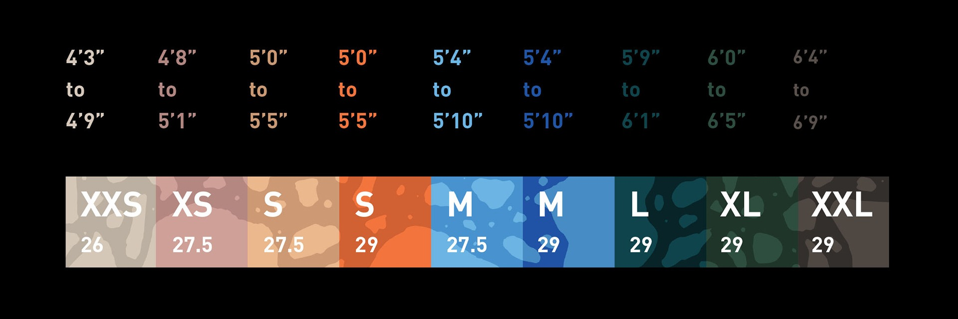 Rockhopper Size Chart