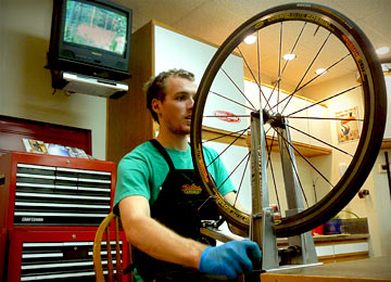 Our Bike Repair Technicians Can True & Build Wheels