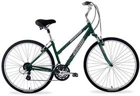 Easy-pedaling gears and comfort to spare!