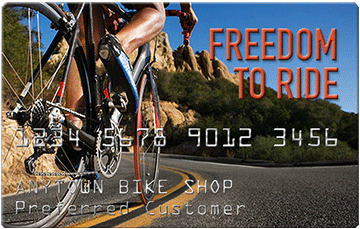 Your Freedom To Ride Card finances your bicycle!
