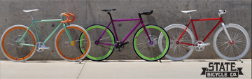 We proudly carry State Bicycle Co. bikes and frames!