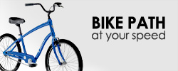 Roll down the bike path on a comfortable cruiser.