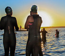 Wetsuits help you float and keep you warm!