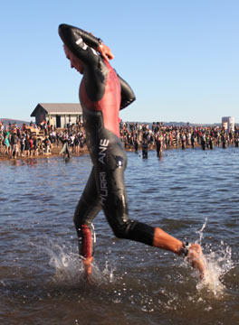Triathlon wetsuits are very flexible.
