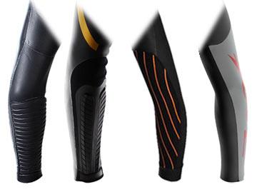 Triathlon wetsuit sleeves vary.